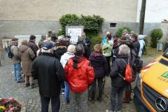 Tafel mit Beschreibung Wanderwege S1 + S2 am Matthesplatz