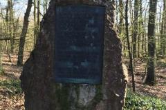 Der Gedenkstein an der Blücherschanze