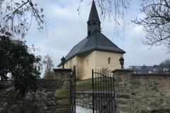 Blick auf die Johanneskapelle vom ehem. Kirchberg