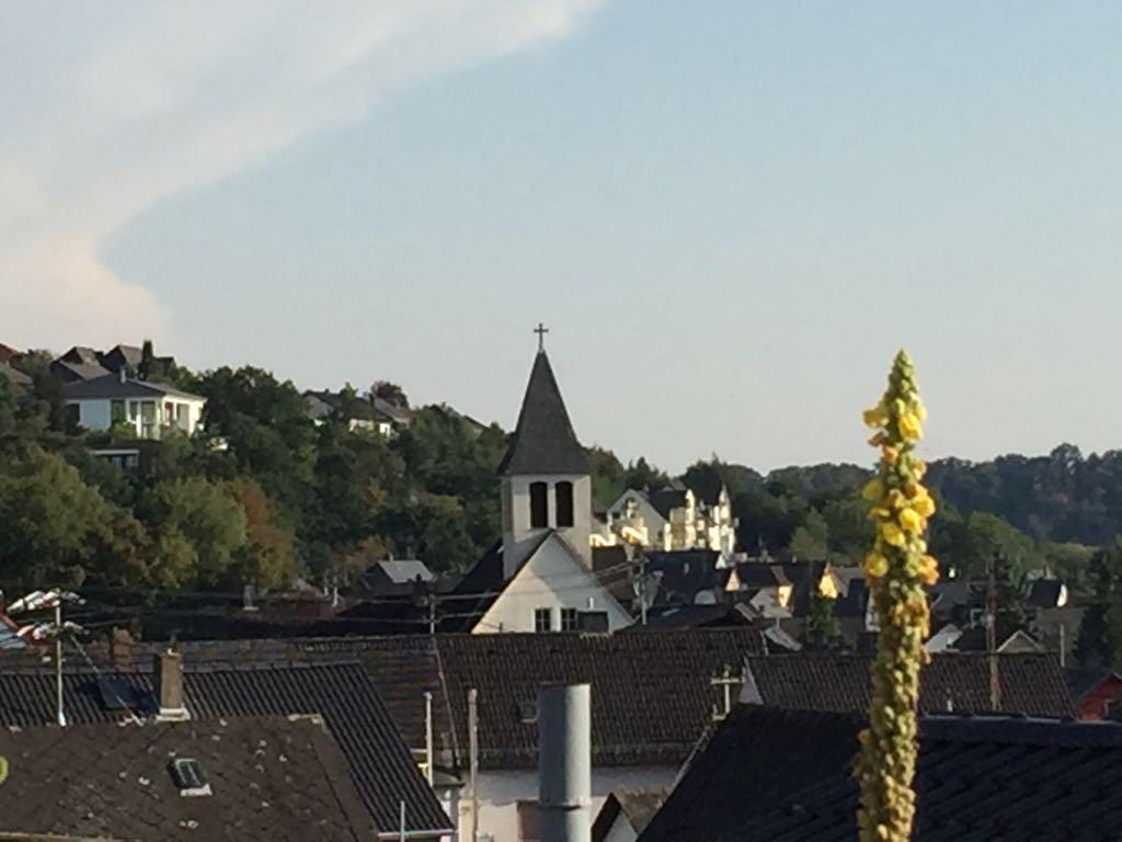 Blick vom Kirchberg (Johanneskapelle) auf das Unterdorf