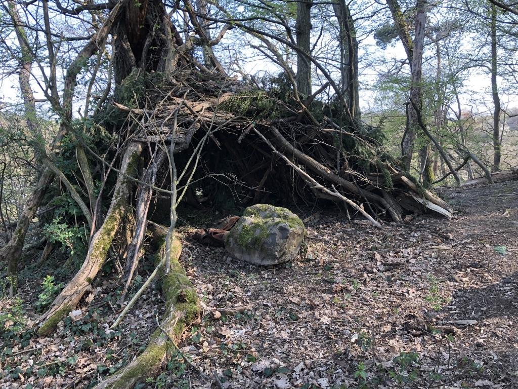Aascheller - Kinder haben Hütte erichtet