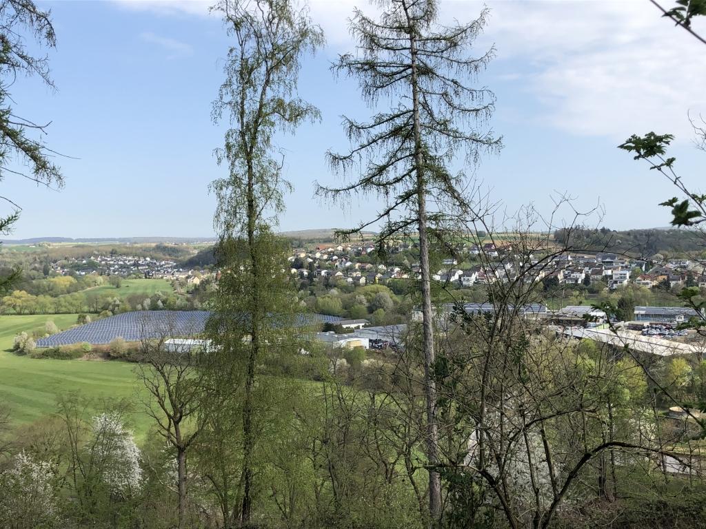 Blick vom Lahnhöhenweg Ennericher-Wald Richtung Runkel