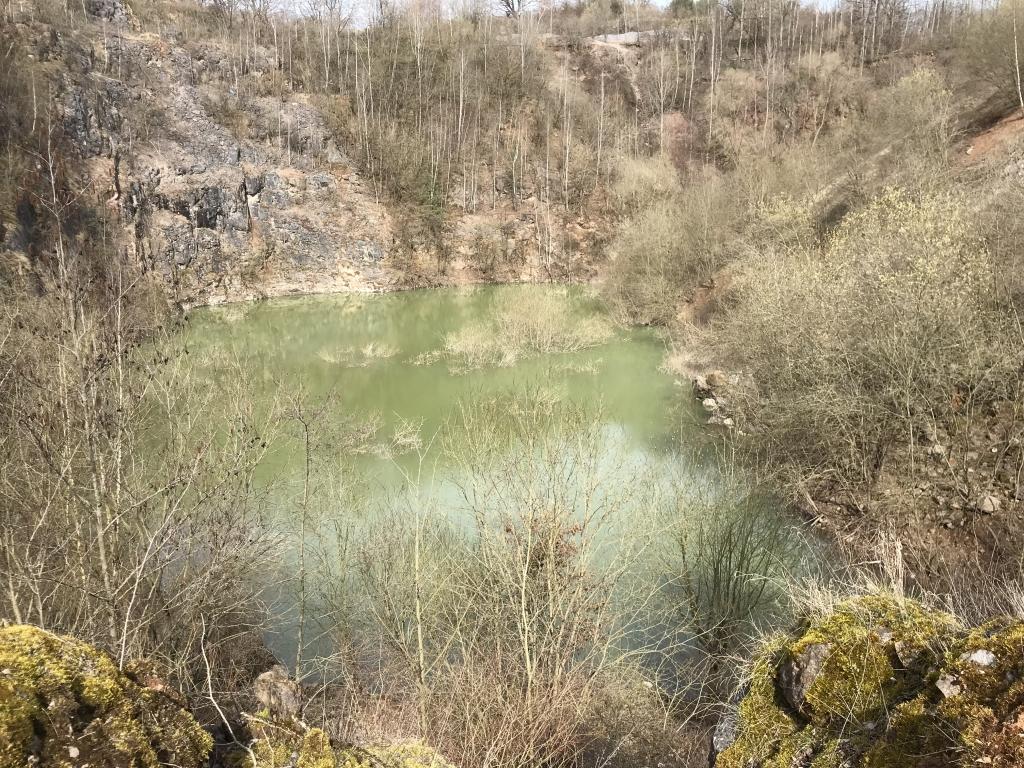 Wasseransammlung im früheren Löhrbruch